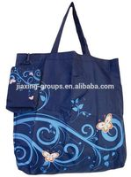 Popular reusable shopping bag folding bag with handle,easy carry and use, OEM orders are welcome
