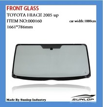 toyota hiace 000160 front glass for front windshield for hiace 2005 up,KDH 200,commuter van