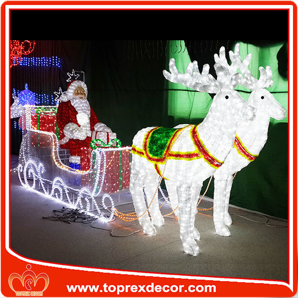 2014 movable lighted santa claus christmas decoration