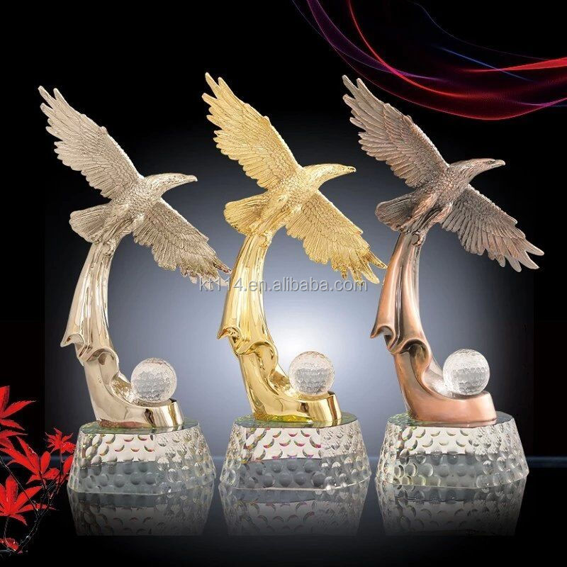 B&G Brand flying eagle new design golf trophies
