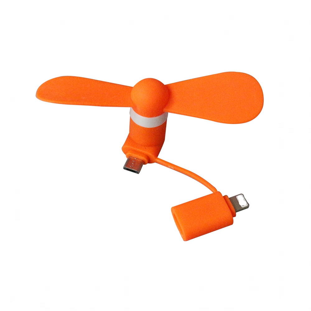 2018 Hot Handheld 2 in 1 USB Mini <strong>Fan</strong> for iPhone and Android