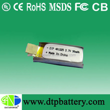 China wholesale customized rechargeable li-polymer 3.7v 90mah polymer lithium battery