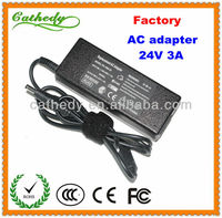24V 3A ac power adapter 24volt 3amp charger switching adapter