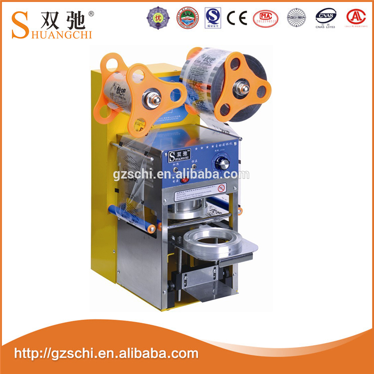 SC-Q60 automatic 220V/50Hz plastic sealing films for cup sealing machine