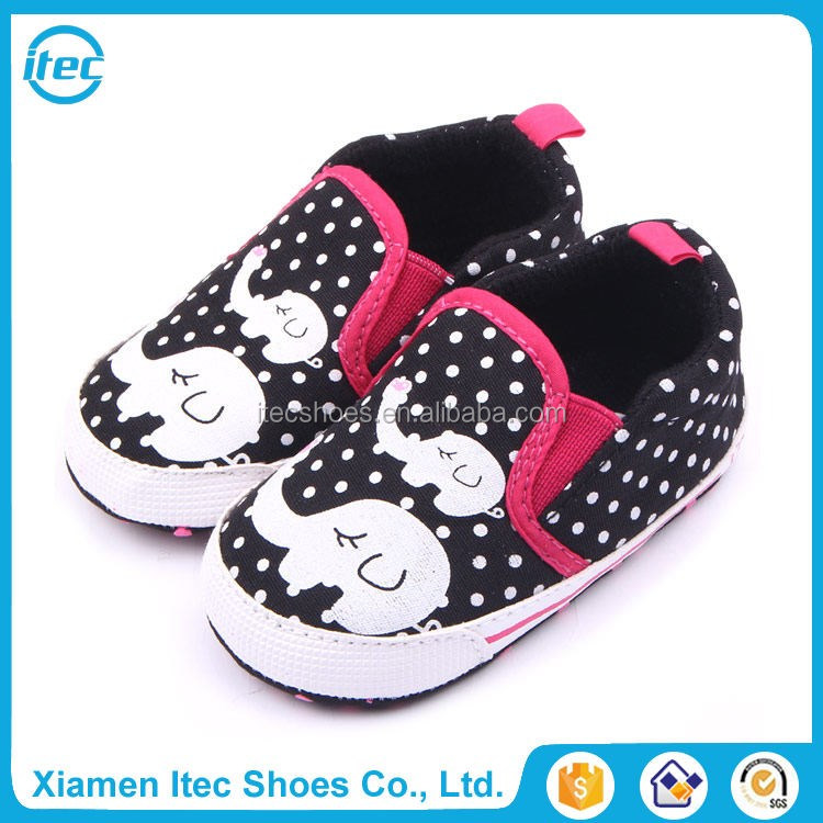 Popular indian canvas baby shoes elephant style slip on prewalker baby infant shoes