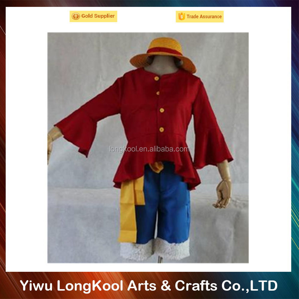 2016 New arrival Japanese anime costume kids ONE PIECE Monkey D Luffy cosplay costume