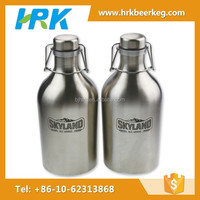 64oz beer growlers stainless steel swing top glass jars