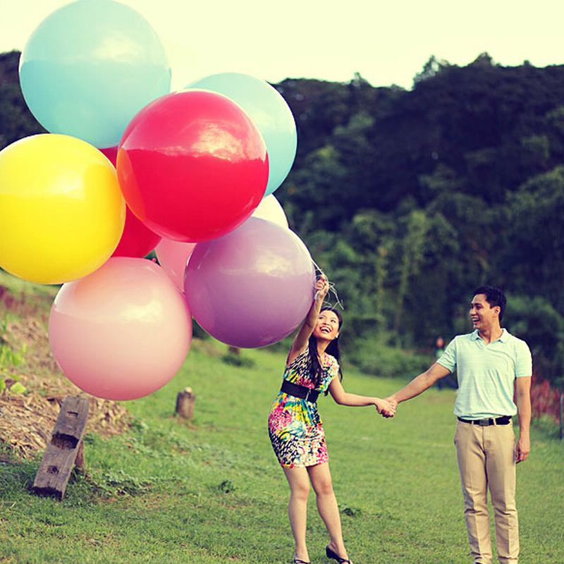 40 Inch Wholesale Round Latex Balloons Thicken the Oversized Four-angle Balloon Wedding and Birthday Decorations Shooting Props