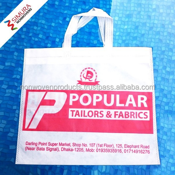 Recyclable Non-woven Shopping Bag with Flat Handle/ Non Woven
