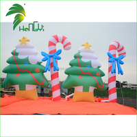Giant Outdoor Festival Decoration Charming Inflatable Tree With Candy Cane for Sale