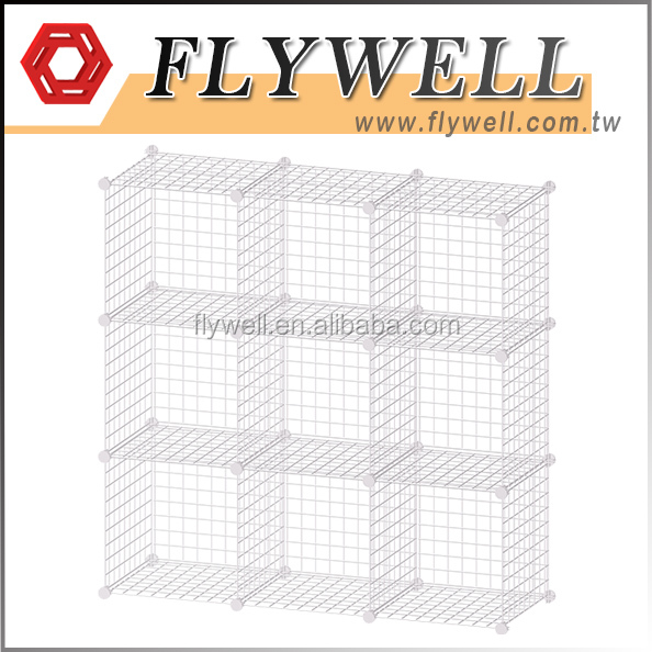 Modular Wire Mesh Storage Stacking Cubes