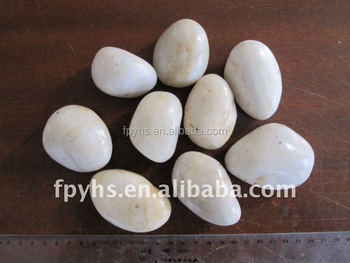 off white high polishing river pebbles