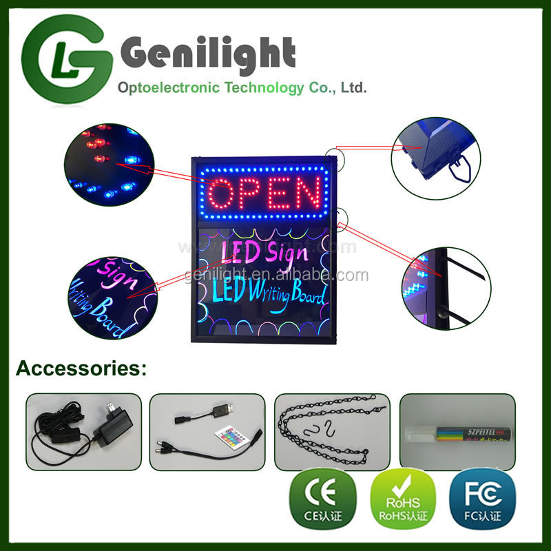 2017 New !!! led sign and writing board with top quality fashion