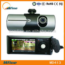 Dual lens 2.7 inch LCD vehicle traveling data recorder, r300 manual car camera hd dvr, car dash cam