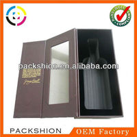 High End Paper Wine Gift Box with EVA Insert
