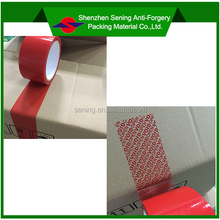PET red non residue adhesive security VOID sealing tape