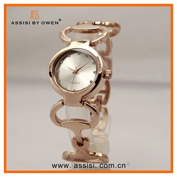 Assisi ladies gold bangle friendship bracelet watch sale crystal fashion jewelry