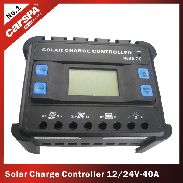 PWM solar charger controller with LCD display/solar regulator 12/24V,40A
