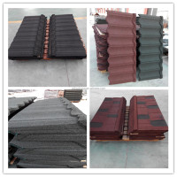 cheap stone coated metal roof tile for high standard modern building/villa/house