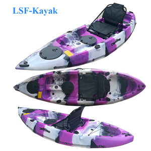 2018 China OEM wholesale paddle,motor and fish finder plastic canoe paddle boat single sea fishing kayak for sale no inflatable