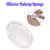 Amazon Hot Sale Clear Beauty Silicone Cosmetic Sponges Powder Puff Silisponge Makeup Sponge