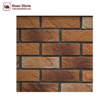 New design cultured stone brick wall natural stone look textures