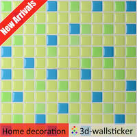 high quality home decoration self adhesive PU tactile tile for interior wall fast mosaic decor
