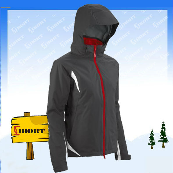 Custom waterproof lady jacket with hood
