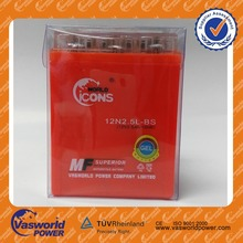 China vasworld power Nigeria World Incoe factory price for 12v 2.5ah motorcycle battery