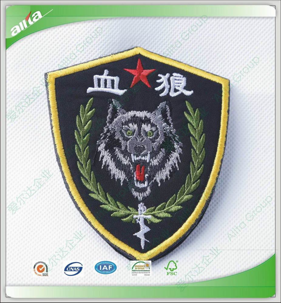 Cool custom cheap embroidered dragon patches