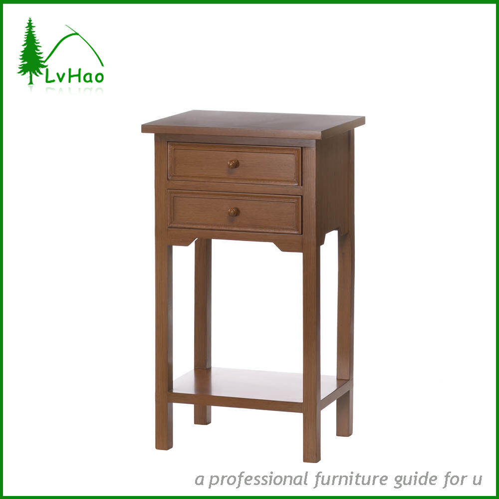 Antique style not folding wooden side table coffee table for living room furniture