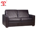 Custom modern brown leather sofa bed