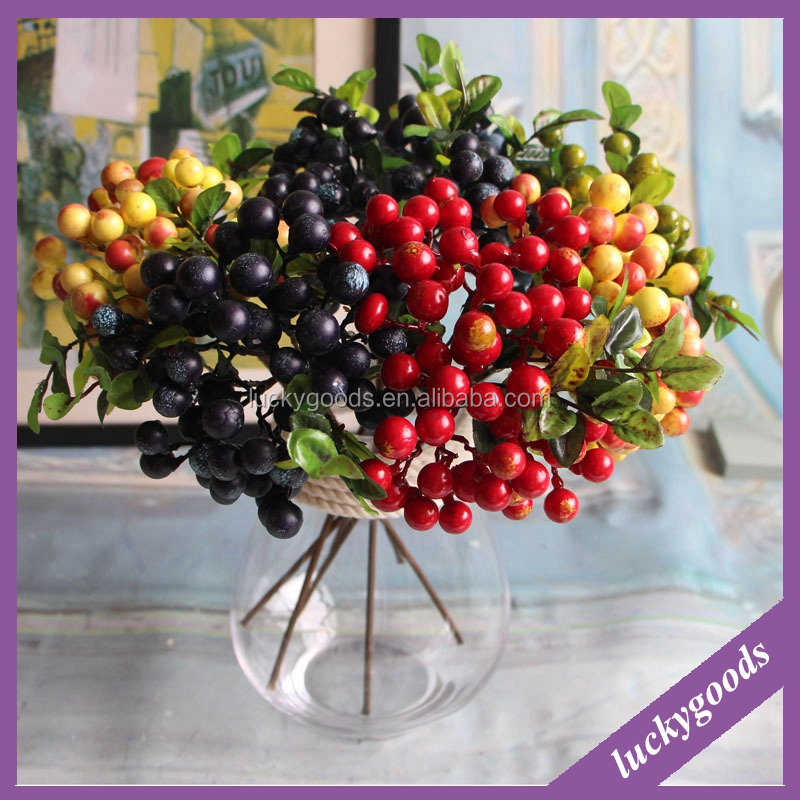 LF456 high quality plastic artificial berry with different colors