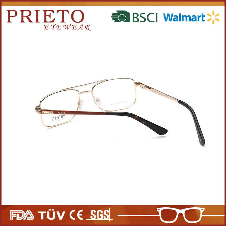 Custom stainless steel hollow out temple eyeglass frames with CE certificate