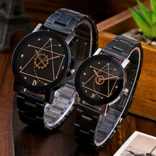 Man Woman Sports Clocks Couple Lovers Couple Analog Quartz Full Stainless Steel Band Luxury Wrist Watch Ladies