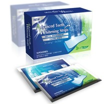 Home Use Non Peroxide Teeth Whitening Product 3D Strips 14 pouches for each box , CE & FDA Approved
