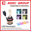 Newest style car accessories high low beam Car Headlamp IP67 2400LM bulb 12V 24V H4 Auto LED Headlight