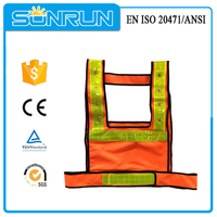 New High visibility mesh flashing reflective led safety clothes
