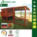 Farming Wood chicken coop & house with wheels and extension run