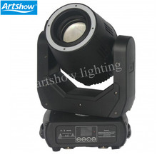 LED 150W Spot Moving Head with led ring 24x0.2W RGB 3-in-1 Moving Yoke 3-Facet Rotating Prism Electronic Strobe