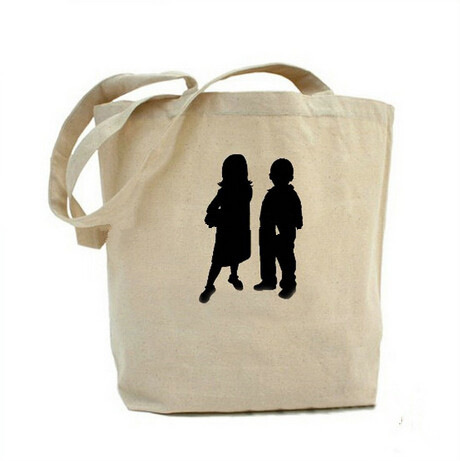 One Color Silk Screen Printing Cotton Shopping Bag