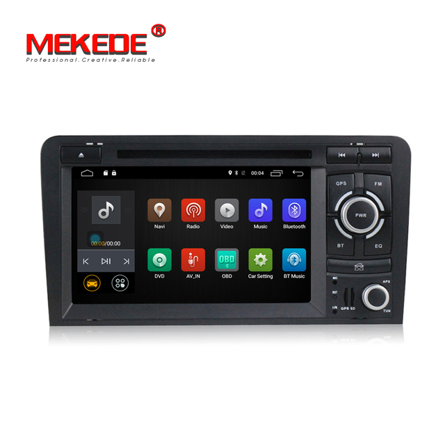 Factory selling car radio cassette For A udi A4 with Multi-language menu DVD player gps navi Android 7.1