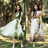 OEM Custom-made chiffon printed long casual silk dress