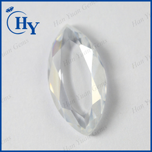 Factory price synthetic CZ gemstones white marquise flat back cubic zirconia