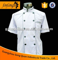 Manufacturer Short sleeve White Chef restaurant Uniform Chef and Waiters Workwear Uniform/Restaurant Uniform