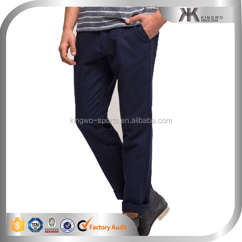 Pants men fashion style top design long slim plain causal chino pants mens pants and trousers
