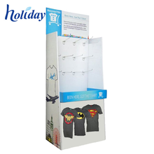 Custom Cardboard T Shirt Display Stand Rack,Portable T-Shirt Floor Display Stand Rack
