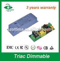 24v 15watt triac dimmable led driver 110v ac 24v dc class 2 regulated power supply