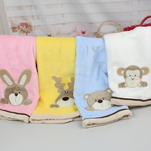 Wholesale Coral Fleece Blanket Super Soft Cartoon Printed Baby Blanket Y131