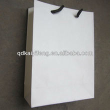Graceful Pure White Dotted Small Paper Drawstring Bags Jewelry Gift Bag
